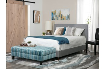 Dean Charcoal Queen Upholstered Panel Bed