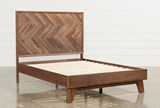 Sidney Queen Platform Bed - Left