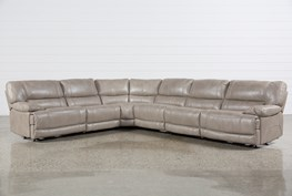 Marx Sahara 6 Piece Power Reclining Sectional W/2 Armless Chairs