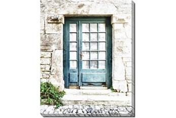40X50 Turquoise Door