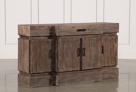 Mocha Wood & Natural 1-Drawer/4Door Sideboard