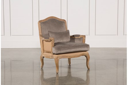 Natural Distressed Platinum Club Chair - Main