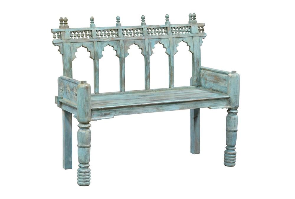 Blue Cart Bench