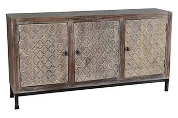 Cappuccino 3-Door Cabinet