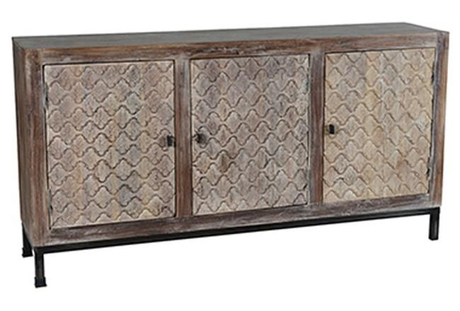 Cappuccino 3-Door Cabinet - 360