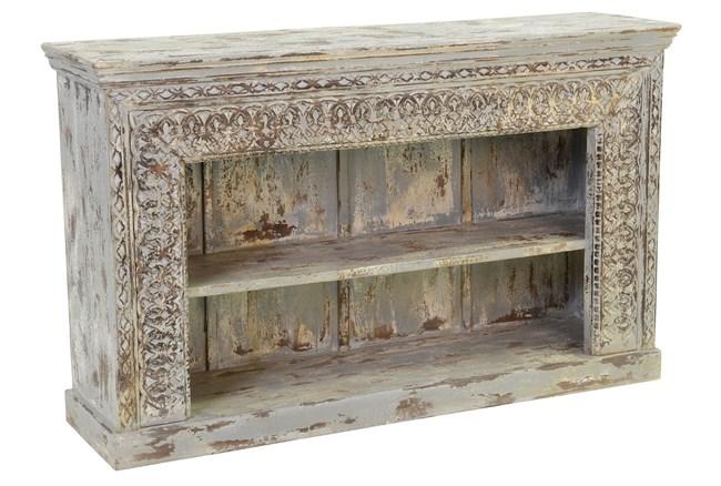 Antique Grey Bookcase - 360