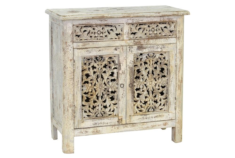 Antique Grey 2-Drawer/2-Door Cabinet