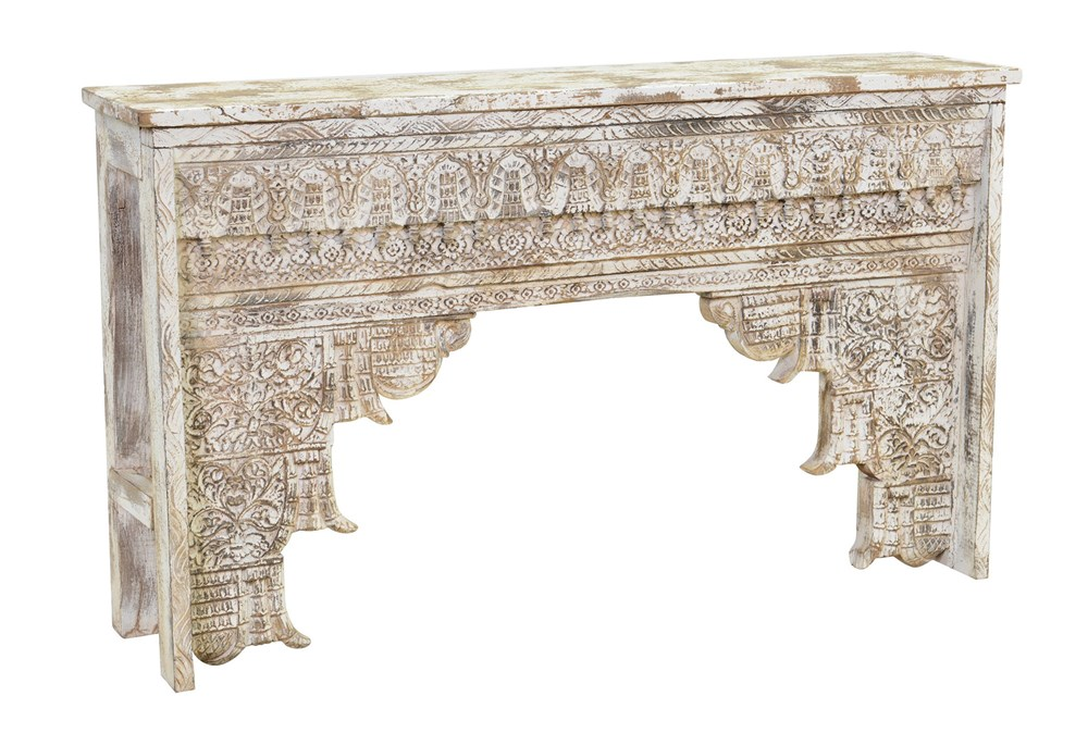 Antique Grey Console Table