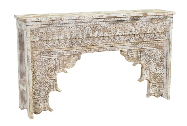 Antique Grey Console Table - 360