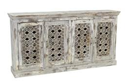 """Antique Grey 4-Door 69"""" Sideboard"""