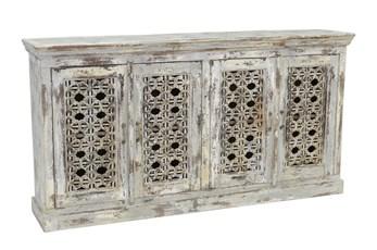 Antique Grey 4-Door Sideboard