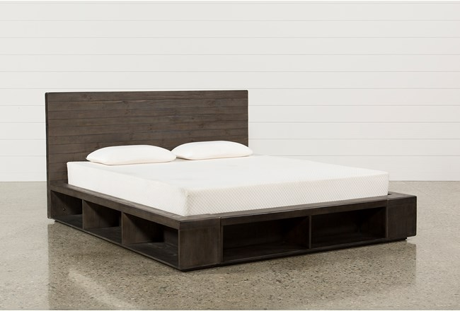 Dylan Eastern King Platform Bed - 360