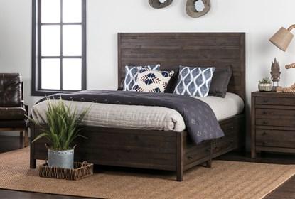 Rowan Queen Panel Bed W/Storage