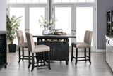 Jaxon 5 Piece Extension Counter Set W/Fabric Stools - Room