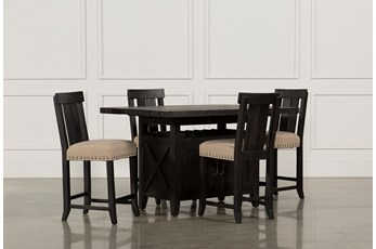 Jaxon 5 Piece Extension Counter Set W/Wood Stools