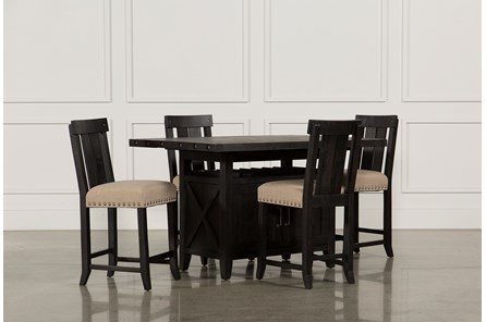 Jaxon 5 Piece Extension Counter Set W/Wood Stools - Main