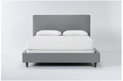 Dean Charcoal Full Upholstered Panel Bed