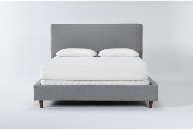 Dean Charcoal Full Upholstered Panel Bed - 360