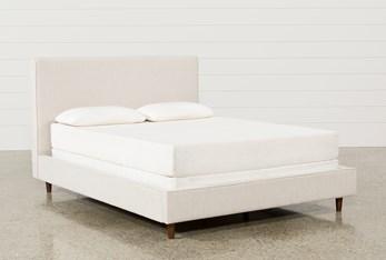 Dean Sand Full Upholstered Panel Bed