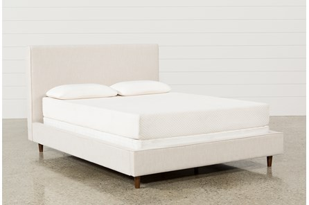 Dean Sand Full Upholstered Panel Bed