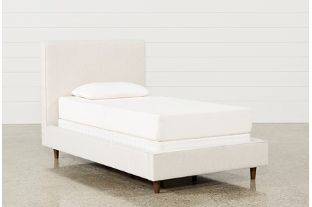 Dean Sand Twin Upholstered Panel Bed - Main