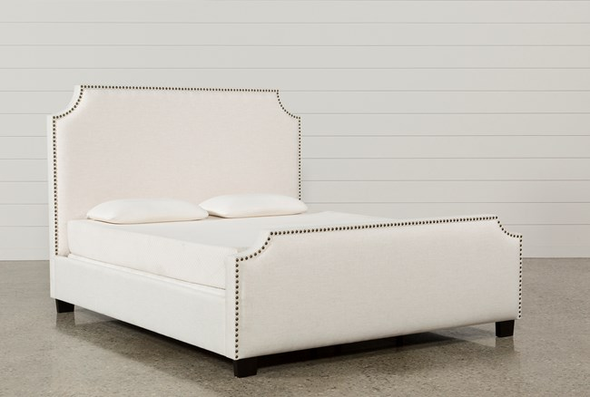 Sophia California King Upholstered Panel Bed - 360