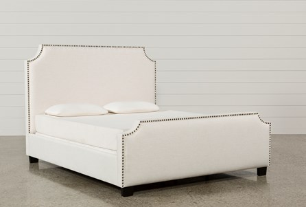 Sophia Eastern King Upholstered Panel Bed