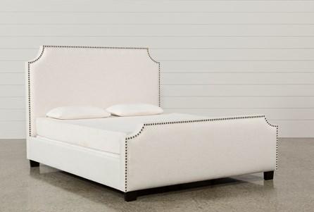 Sophia Eastern King Upholstered Panel Bed