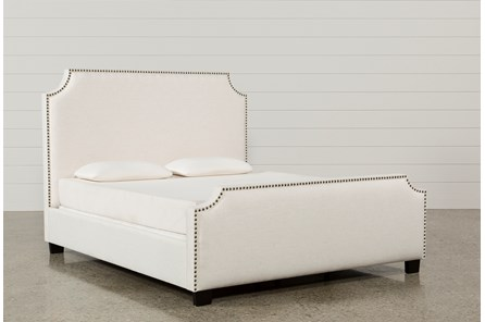 Sophia Eastern King Upholstered Panel Bed - Main