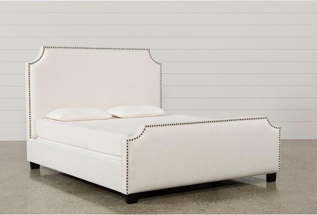 Sophia Queen Upholstered Panel Bed 360