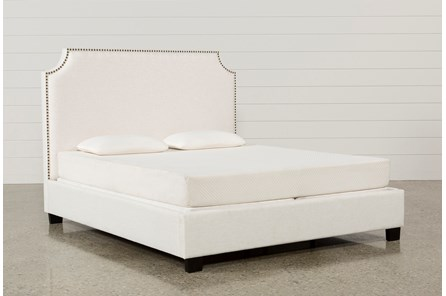 Sophia Eastern King Upholstered Platform Bed - Main