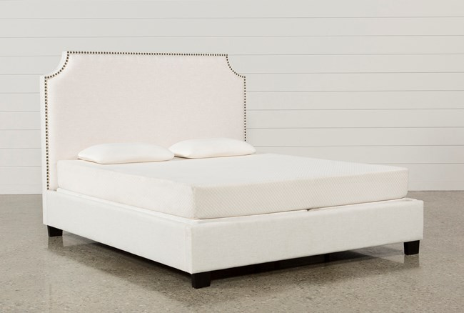 Sophia Eastern King Upholstered Platform Bed - 360
