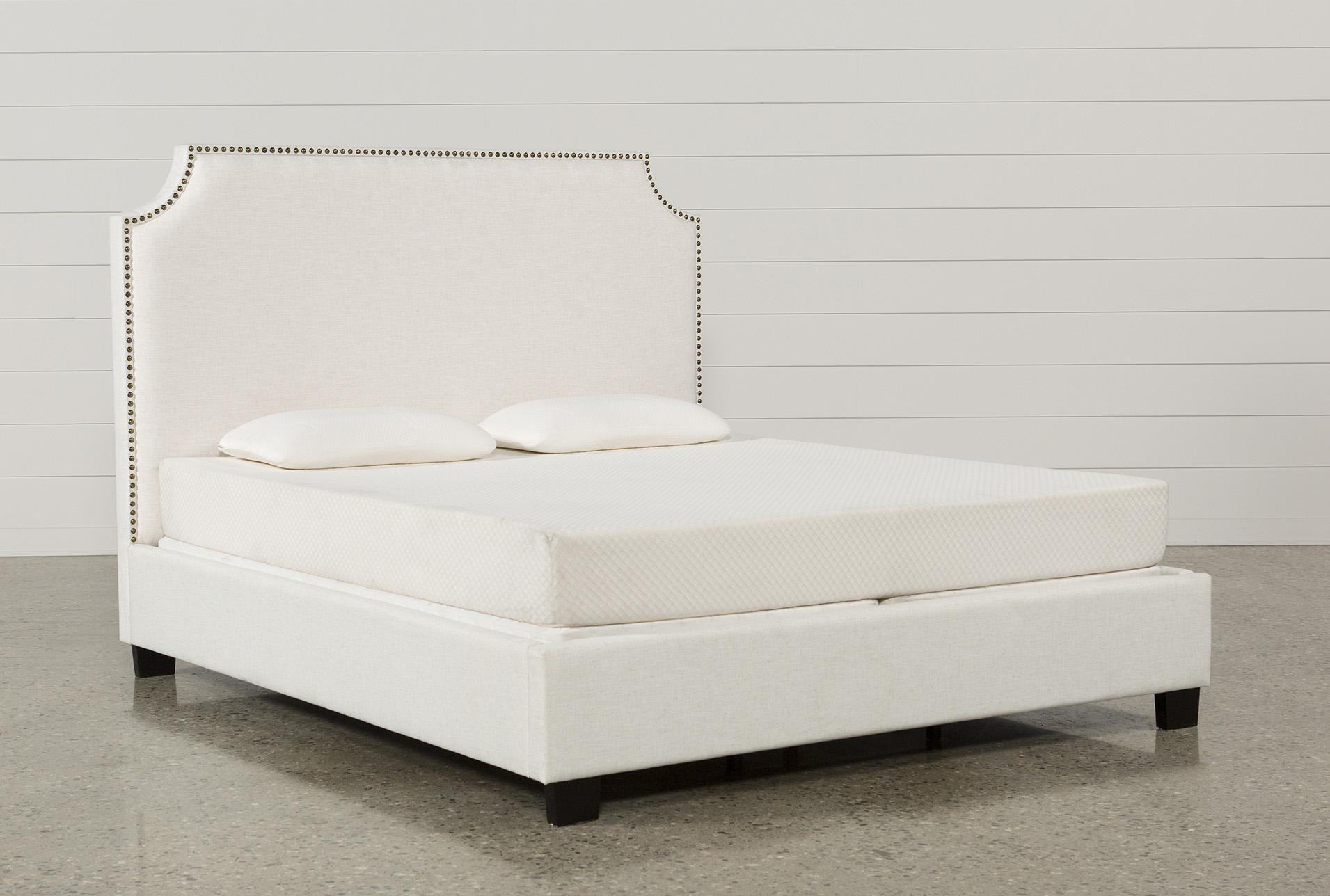 Sophia Queen Upholstered Platform Bed Living Spaces