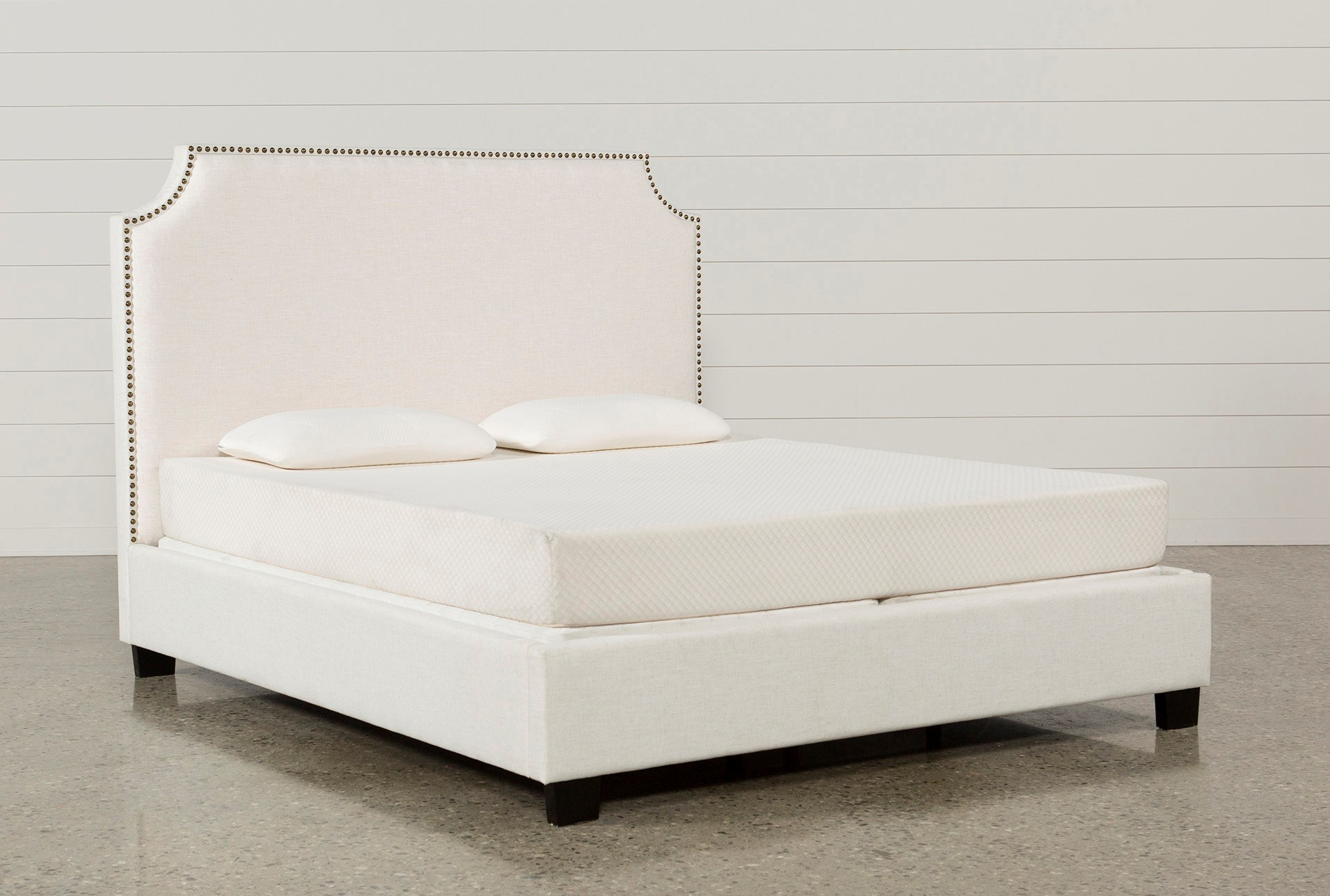 Sophia Queen Upholstered Platform Bed Living Spaces