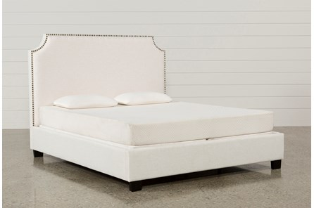 Sophia Queen Upholstered Platform Bed - Main