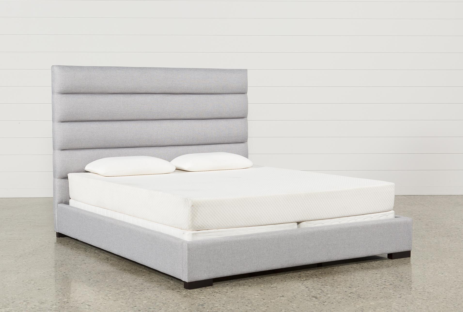 Hudson Eastern King Upholstered Platform Bed Living Spaces