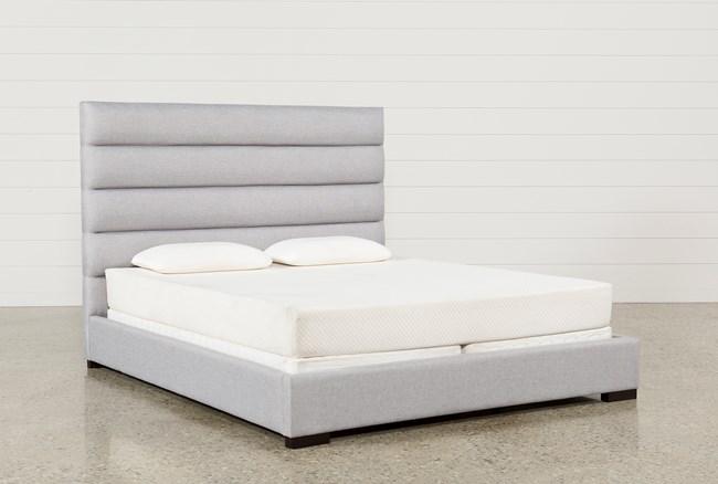 Hudson Queen Upholstered Platform Bed Living Spaces