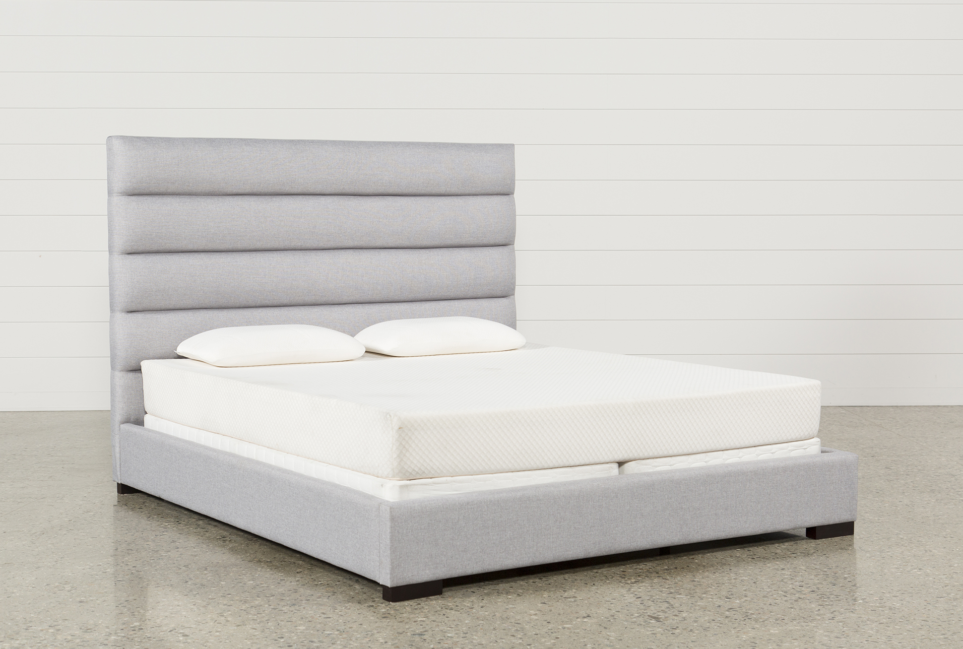 Hudson Queen Upholstered Platform Bed (Qty: 1) Has Been Successfully Added  To Your Cart.