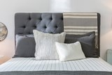 Leighton Queen Upholstered Platform Bed - Room