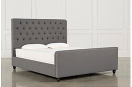 Leighton California King Upholstered Panel Bed