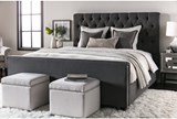 Leighton California King Upholstered Panel Bed - Room