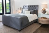 Leighton Eastern King Upholstered Panel Bed - Room