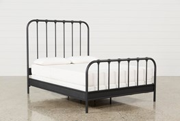 Knox Eastern King Metal Panel Bed