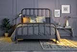 Knox Queen Metal Panel Bed - Room