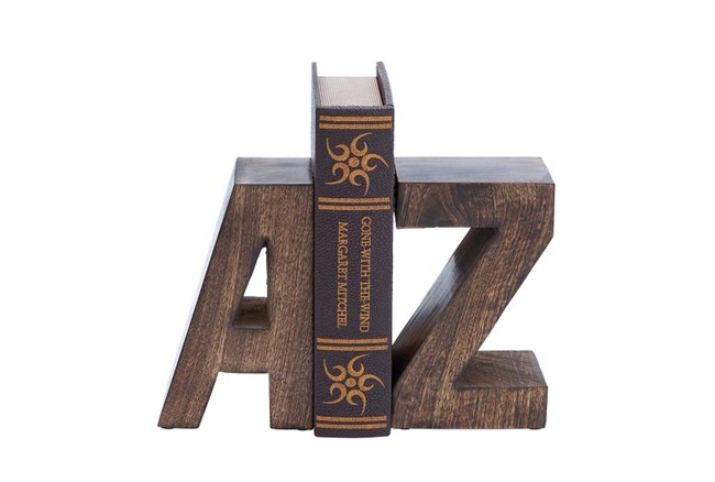 8 Inch Wood Bookend - 360