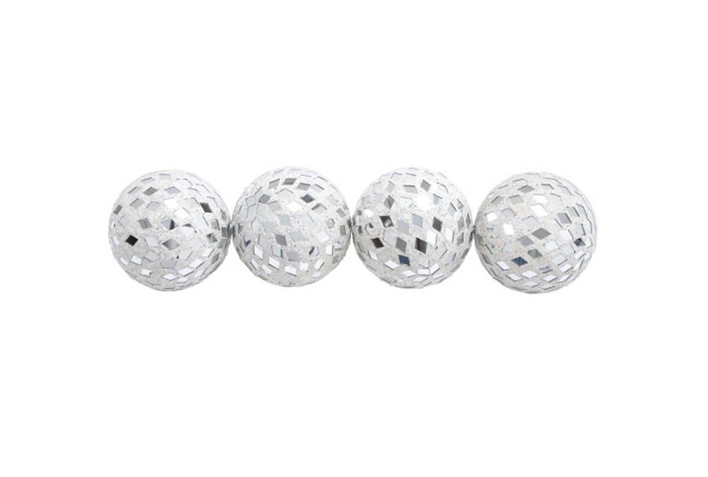 4 Piece Set Mirror Mosaic Balls