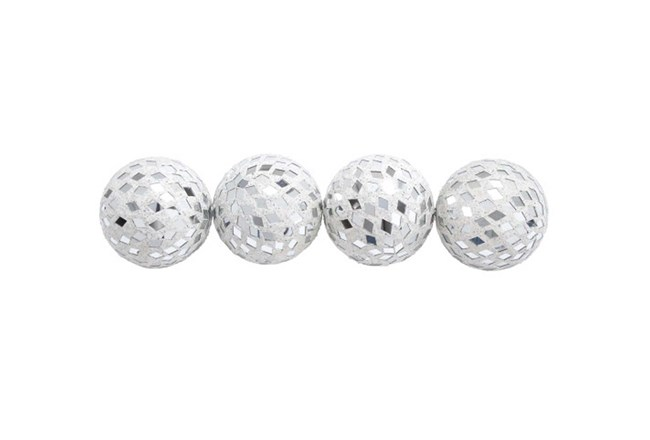 4 Piece Set Mirror Mosaic Balls - 360