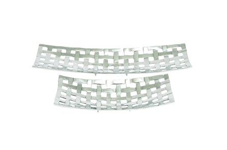 2 Piece Set Aluminum Trays