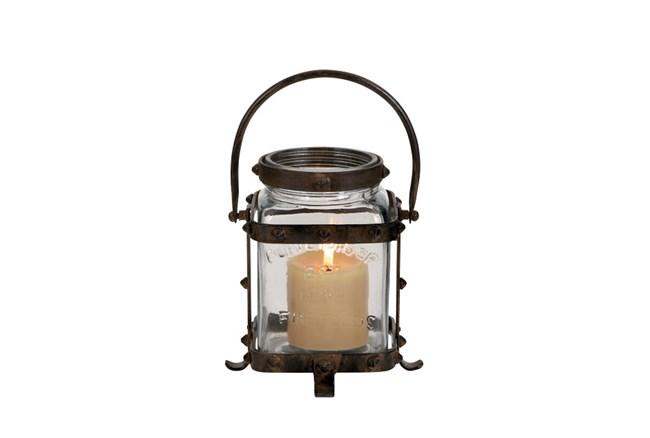 12 Inch Metal Glass Lantern - 360