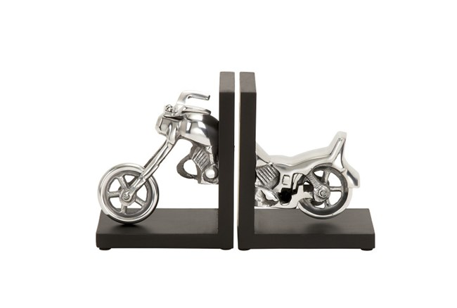 7 Inch Aluminum Wood Bookend - 360